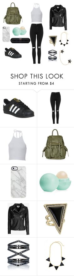 """""""Day out/ sixth form day 5!"""" by sophiexo119 ❤ liked on Polyvore featuring adidas, Topshop, Uncommon, Beats by Dr. Dre, Eos, IRO, House of Harlow 1960, Eva Fehren and Bee Goddess"""