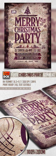 Flyer Christmas Party Konnekt Template PSD #design #xmas Download: http://graphicriver.net/item/flyer-christmas-party-konnekt/13459357?ref=ksioks