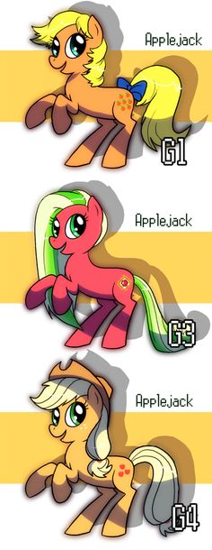 Applejacks Evolution by ~ShuffleStripes on deviantART