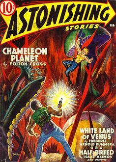 Astonishing Stories, Feb. #vintage comics covers