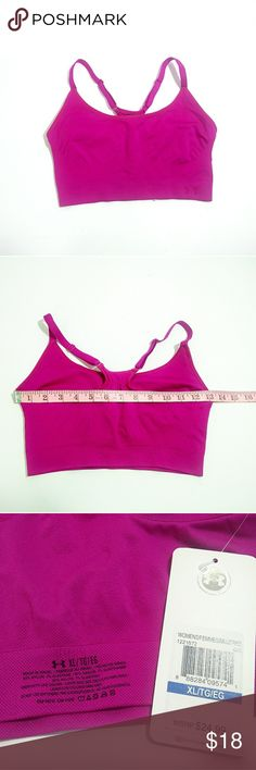 1abe9eb47e Under Armour dark pink sports bra New w  tags Very comfortable   stylish  Stock photo