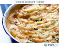 This page contains potato savoyard recipes. Try this classic French potato side dish, often made with Gruyere cheese and nutmeg.