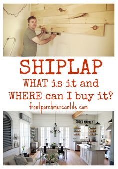 What IS shiplap?