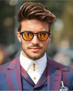 Amazing style by mariano di vaio. Hairstyles For Round Faces, Hairstyles Haircuts, Haircuts For Men, Cool Hairstyles, Latest Hairstyles, Ponytail Hairstyles, Medium Hair Styles, Short Hair Styles, Round Face Men