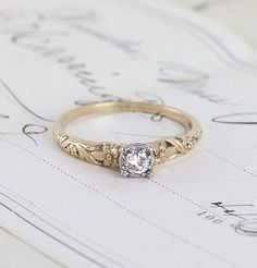 100 Simple Vintage Engagement Rings Inspiration (53) #weddingring