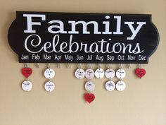 Family Celebrations Birthday and Anniversary by DesignedByMelissaM, $60.00