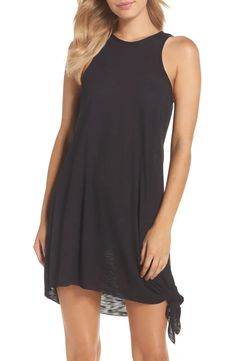 Becca Breezy Basics Cover-Up Dress (Nordstrom Exclusive) | Nordstrom Swim Cover Up Dress, Swim Cover Ups, Bathing Suit Covers, Swimsuit Cover, Bathing Suits, Dress Outfits, Casual Dresses, Cute Outfits, Summer Outfits