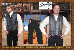Scully Old West Pinstripe Dress Vests From Tribal And Western Impressions - www.indianvillagemall.com