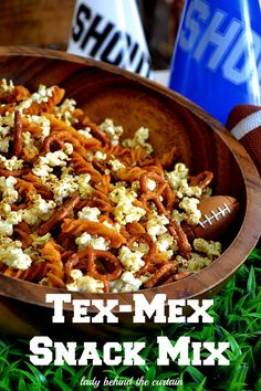 This Tex-Mex Snack Mix has a nice mixture of ingredients with a little kick from the spices.