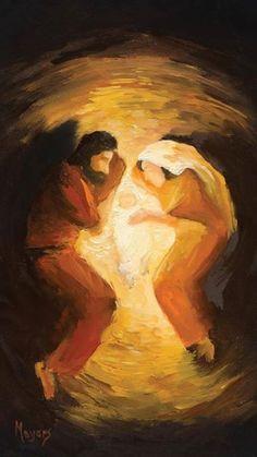 Joseph and Mary with Baby Jesus Lds Art, Bible Art, Catholic Art, Religious Art, Religious Paintings, Christian Paintings, Christian Artist, Jesus Painting, Jesus Art