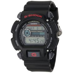 Casio Men's DW9052-1V G-Shock Black Stainless Steel and Resin Digital Watch #Casio