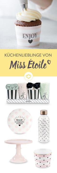 Schluss mit Langeweile im Geschirrschrank! Die süßen Produkte von Miss Ètoile bringen liebenswerte Abwechslung auf den Tisch.