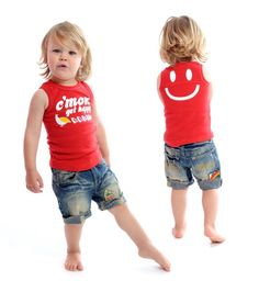 Rock Your Baby C'mon Get Happy tee and Vintage Hawaii shorts