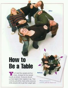 How to be a table Fun activity to do with a few friends