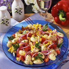 Színes babsaláta II. Recept képpel -   Mindmegette.hu - Receptek Caprese Salad, Potato Salad, Salads, Potatoes, Ethnic Recipes, Food, Potato, Essen, Meals