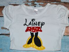 Minnie Mouse Legs Personalized Disney shirt