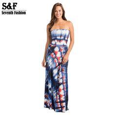 4da8bbef9c6 New Fashion 2016 Summer Women Dresses Beach Boho Sexy Elegant Party Strap  Printed Striped Women s Convertible Dress Plus Size