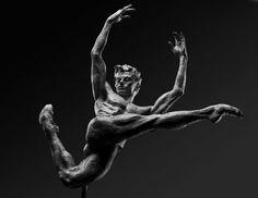 "Richard MacDonald sculpture  ""540 Revolution"" (Dancer Sergei Polunin) Bronze Edition of 55 Dims: 28"" x 15"" x 8"" available through ROBIN RILE FINE ART contact info@robinrile.com"