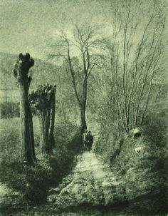 Domenico Riccardo Peretti Griva, Strada di campagna, 1930 ca. Stampa al bromolio trasferto   Collezione Museo Nazionale del Cinema