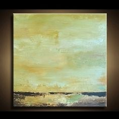 Abstract Art  Olive Green and Golden by paintallnightstudios, $75.00