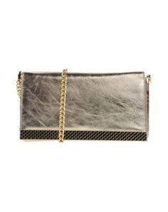 JUST CAVALLI Handbag. #justcavalli #bags #shoulder bags #clutch #metallic #leather #hand bags #