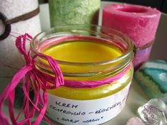 Natural Cosmetics, Candle Jars, Diy And Crafts, Projects To Try, Soap, Herbs, Perfume, Homemade, Cream