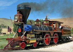 """Virginia and Truckee R.R. # 22 """"Inyo"""".  Baldwin 4-4-0. Built 1875."""