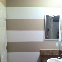 DIY bathroom stripes!