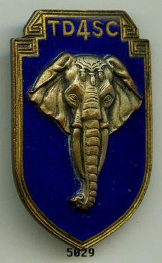 Insigne Indochine 4 TD SC Éléphant | eBay
