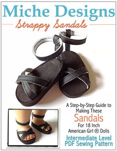 """Strappy Sandals 18"""" Doll Shoes"""