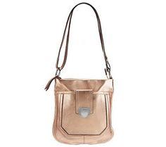 B. Makowsky Glove Leather Zip Top Convertible Crossbody Bag - A228981 — QVC.com