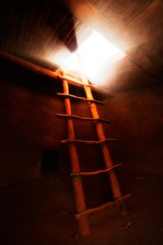Kiva and ladder. Bandelier National Monument, New Mexico