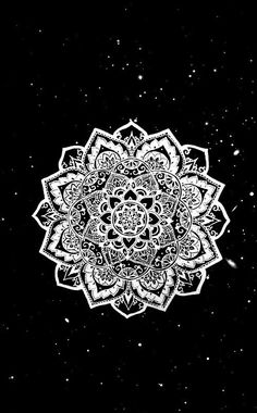 wallpaper, mandala and background image - wallpes Wallpaper Telephone, Phone Screen Wallpaper, Wallpaper Space, Black Wallpaper, Cool Wallpaper, Tumblr Backgrounds, Tumblr Wallpaper, Wallpaper Backgrounds, Phone Backgrounds
