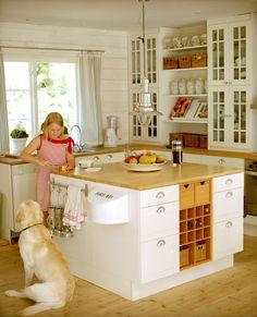 Die #Küche unseres #Ferienhauses in #Stockholm http://www.stockholm-ferienhaus.com