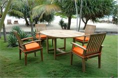 Teak #dining_set. An oval table and arm chairs by #Anderson.