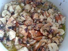 ΧΤΑΠΟΔΙ ΞΥΔΑΤΟ Greek Recipes, Pasta Salad, Potato Salad, Cauliflower, Seafood, Food And Drink, Potatoes, Chicken, Meat