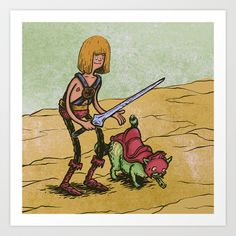 Masters of the Universe Art Print by The Quarrelsome Yeti - $16.00