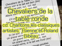 """Music video clip for the lyric video """"Chevaliers de la table ronde"""" for the song by the same title off of the CD """"Chantons les classiques ! French Songs, All Songs, Itunes, Music Videos, Lyrics, Knights, Classic, Verses, Song Lyrics"""