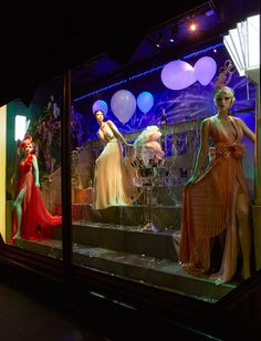 The Great Gatsby windows at Harrods