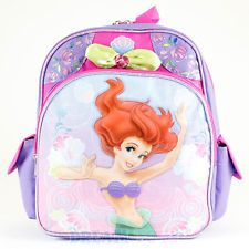 "12"" Small Disney Little Mermaid Backpack - Swim Ariel Girls School Book Bag"
