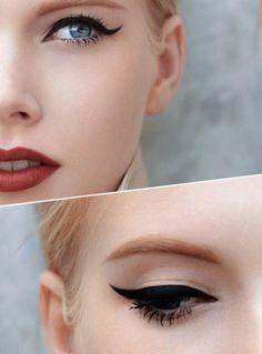 genius cat's eye on matt base with fabulous matt lip colour