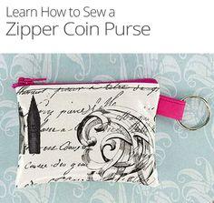 How to Make a Zipper Coin Purse