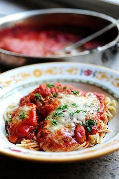 Chicken Parm, The Pioneer Woman Cooks.  This is my go to recipe when I want to make this.  So good, we put candles on the table.