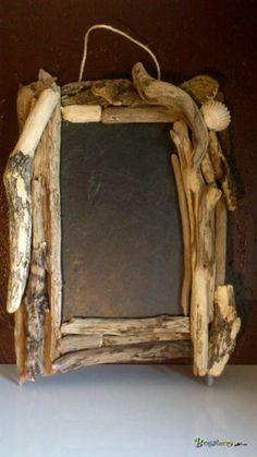Cadre bois et ardoise