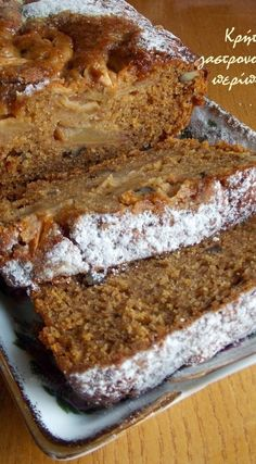 Νηστίσιμο κέικ μήλου στο μπλέντερ ή στο multi! (VIDEO) - cretangastronomy.gr Apple Cake Recipes, Sweets Recipes, Cookie Recipes, Vegan Sweets, Healthy Sweets, Vegan Desserts, Greek Sweets, Greek Desserts, Greek Cake