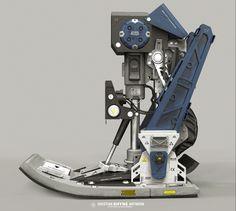 Robotic foot, Hristian Ivanov Shyne on ArtStation at… Mechatronics Engineering, Mechanical Engineering, Robot Leg, Autonomous Robots, Prosthetic Leg, Robot Technology, Robot Concept Art, Industrial Design, Character Design