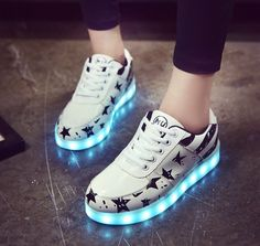 Led Shoes 2016 Big size 35-46 Fashion Light Men high-quality casual Shoes Women Shoes Outdoor travel dance Led USB Shoes xss5