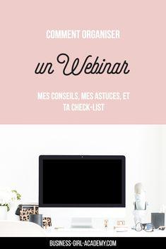 Comment organiser un Webinar Community Manager, Girl Group, Organiser, Entrepreneur, List, Management, Business, Lausanne, Coin