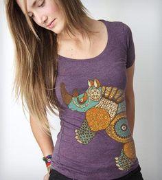 Women's Rhino Gears T-Shirt by Clockwork Gears on Scoutmob Shoppe