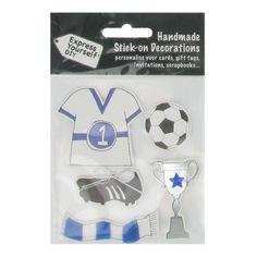Express Yourself Blue Football Diy Embellishments Pack | Hobbycraft #stickers #sporty #football #craft